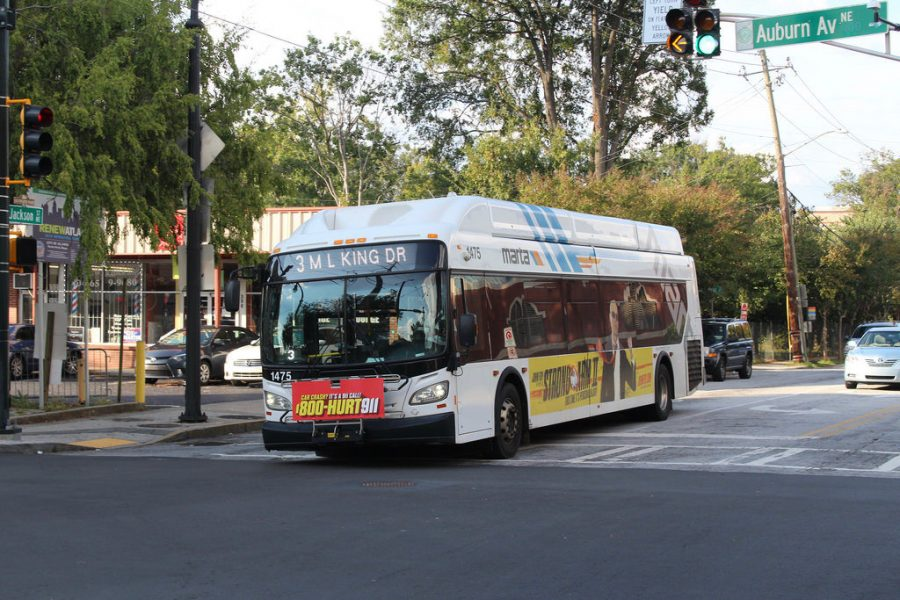 An image of a bus on a street.