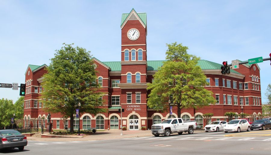 An image of Cumming City Hall.