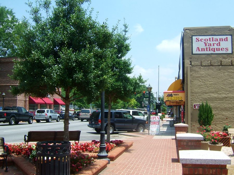 A photo of downtown Lawrenceville.