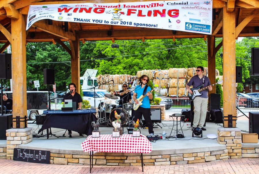 Image of band at Loganville Wing Fling.